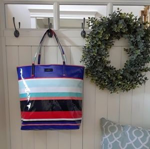 Kate Spade Nylon Striped Tote